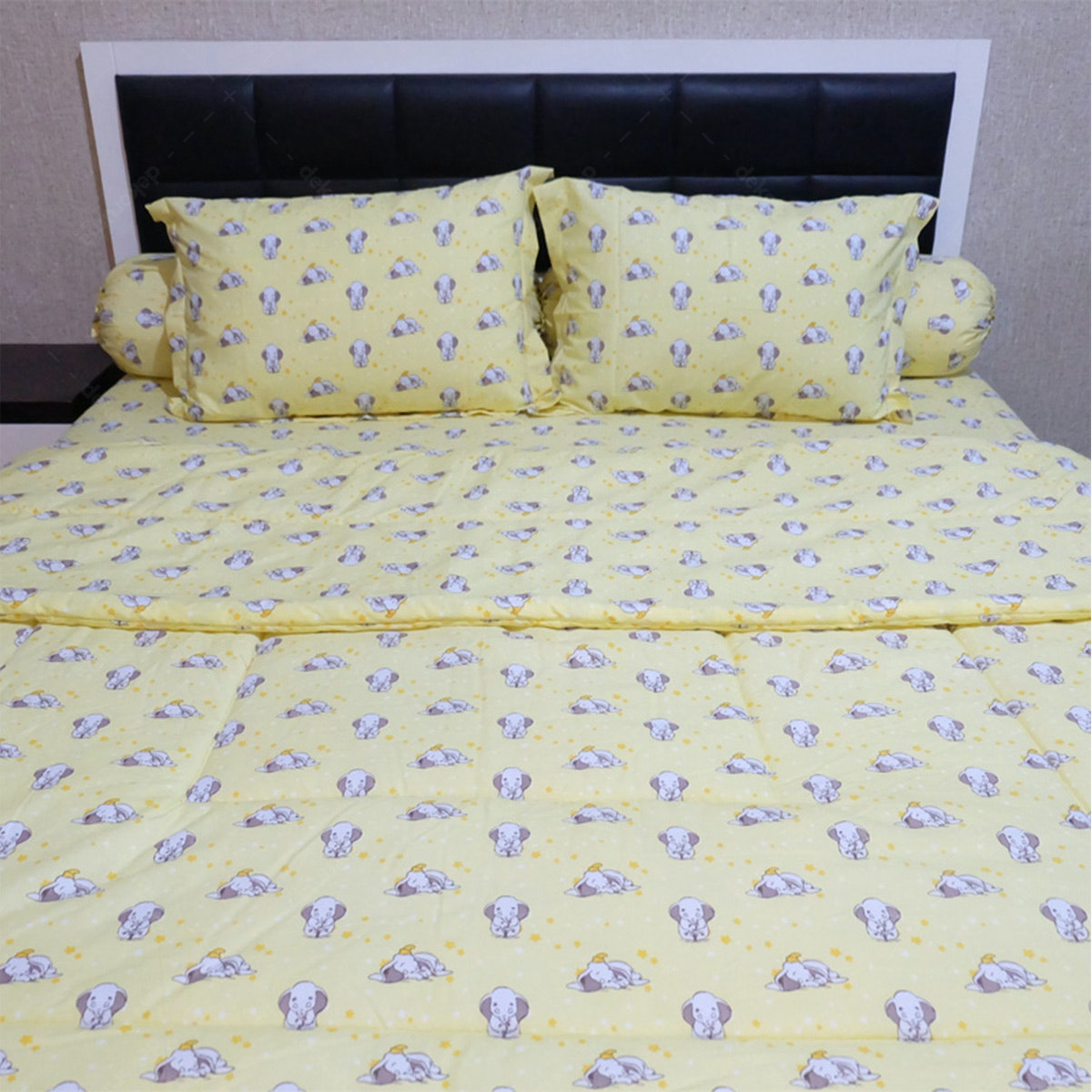 Sleep Buddy Set Sprei Dan Bed Cover Sleepy Dumbo Cvc 120x200x30