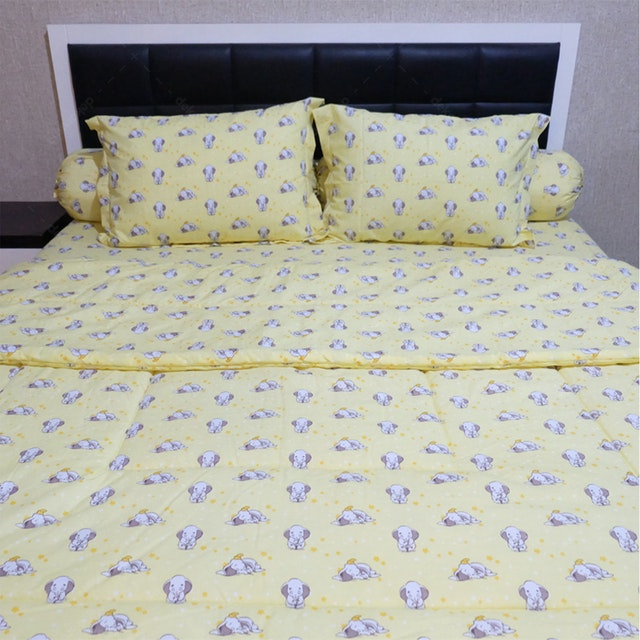 Sleep Buddy Set Sprei Dan Bed Cover Sleepy Dumbo Cvc 180x200x30
