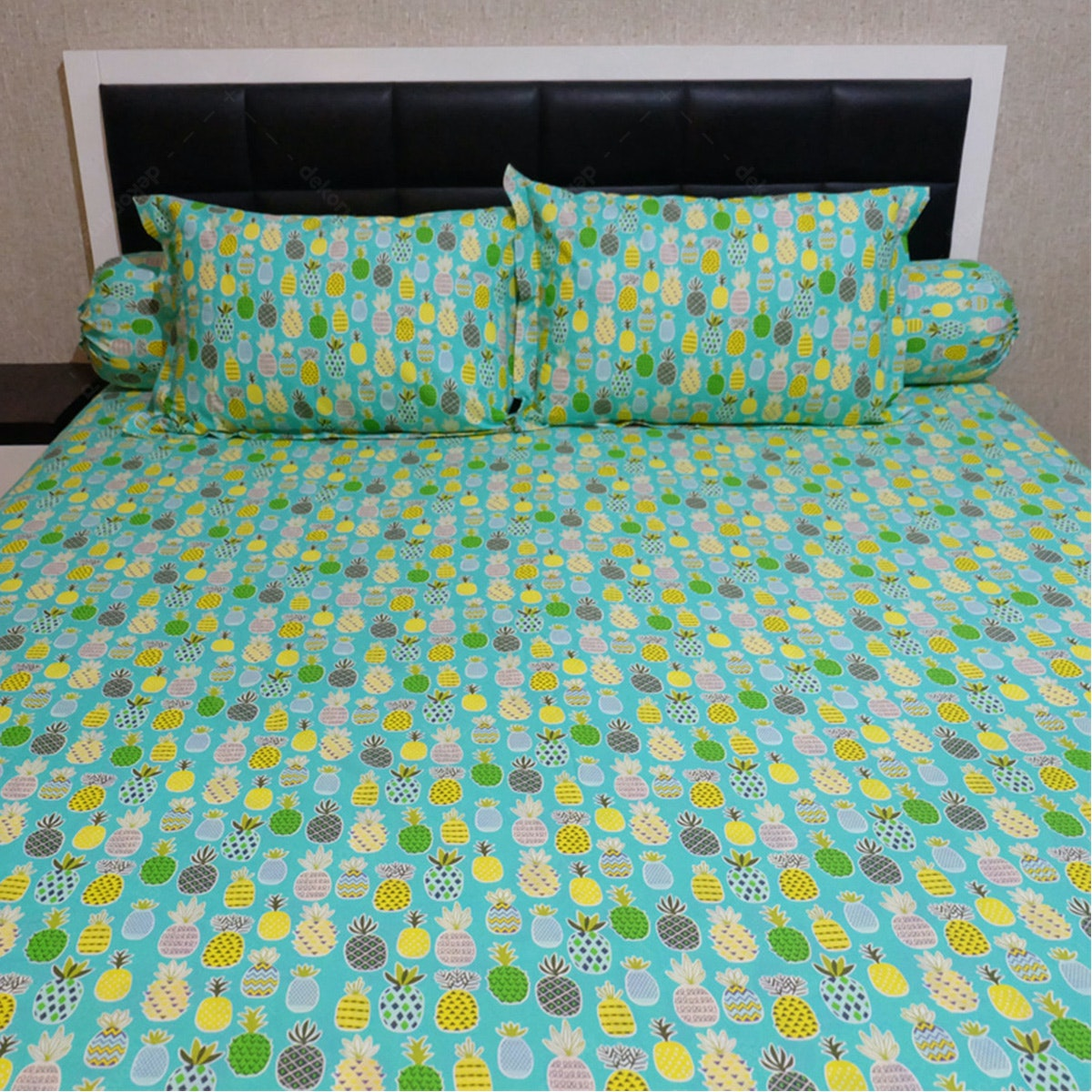 Sleep Buddy Set Sprei Tosca Pineapple Cvc 160x200x30