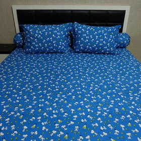 Sleep Buddy Set Sprei Snoopy Navy CVC 200x200x30