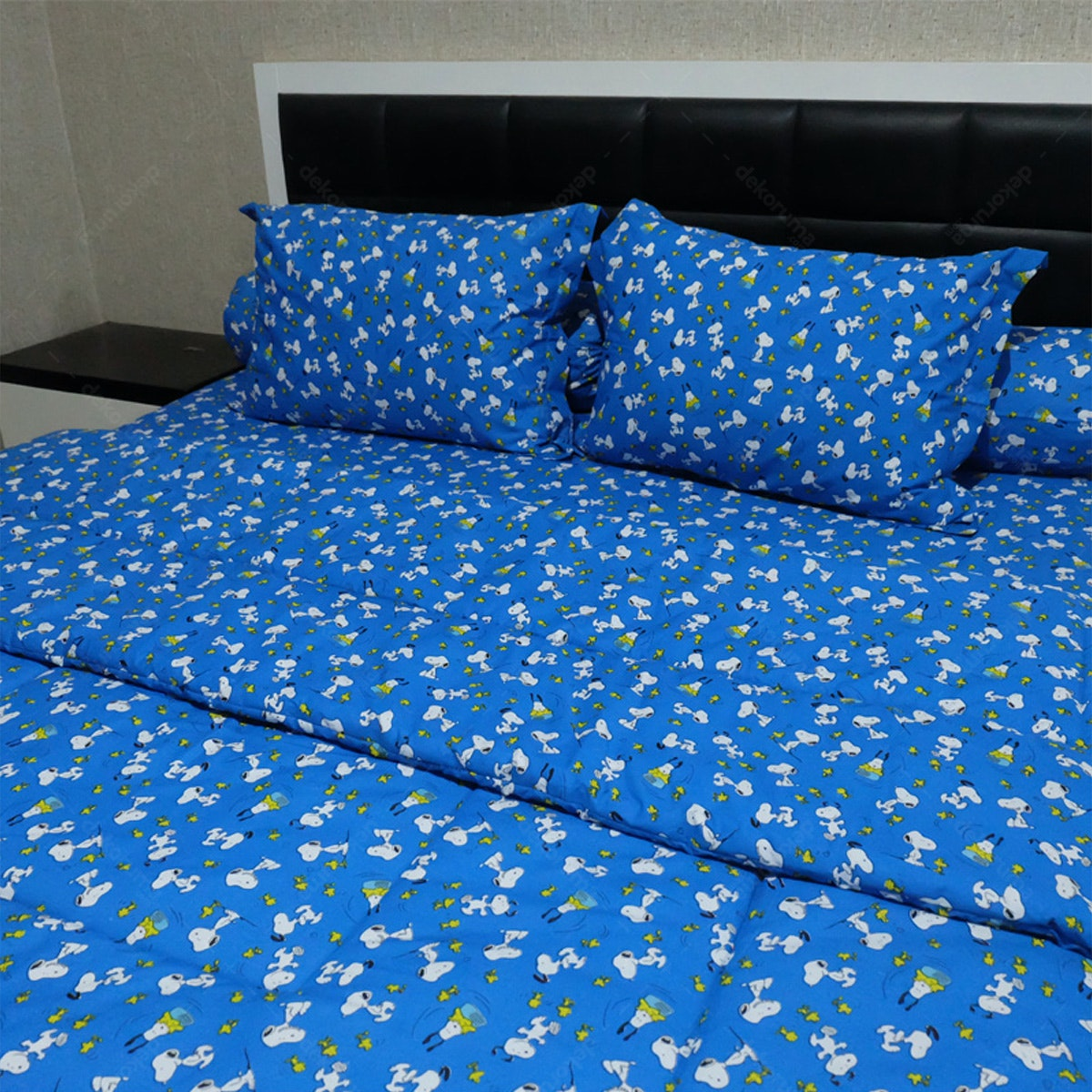 Sleep Buddy Set Sprei dan Bed Cover Snoopy Navy CVC 160x200x30