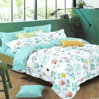 Sleep Buddy Set Sprei dan Bed Cover Prilly Cotton Sateen 180x200x30
