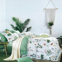 Sleep Buddy Set Sprei dan Bed Cover Mushroom Garden Cotton Sateen 180x200x30