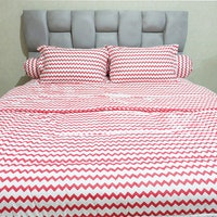 Sleep Buddy Set Sprei dan bed cover Baby Retro Red CVC 160x200x30
