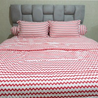 Sleep Buddy Set Sprei dan bed cover Baby Retro Red CVC 200x200x30