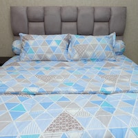 Sleep Buddy Set Sprei dan bed cover Blue Trilogy CVC 180x200x30