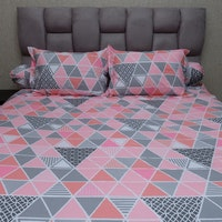 Sleep Buddy Set Sprei Pink Trilogy CVC 160x200x30