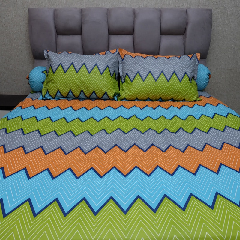 Sleep Buddy Set Sprei Urban Retro Orange CVC 200x200x30