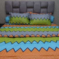 Sleep Buddy Set Sprei dan bed cover Urban Retro Orange CVC 160x200x30
