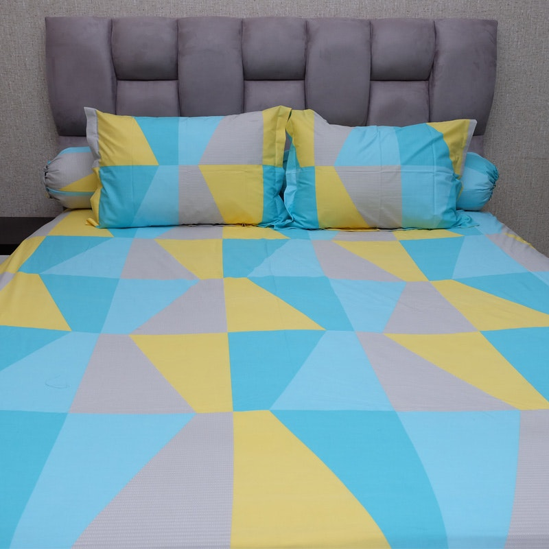 Sleep Buddy Set Sprei Blue Zenith CVC 200x200x30