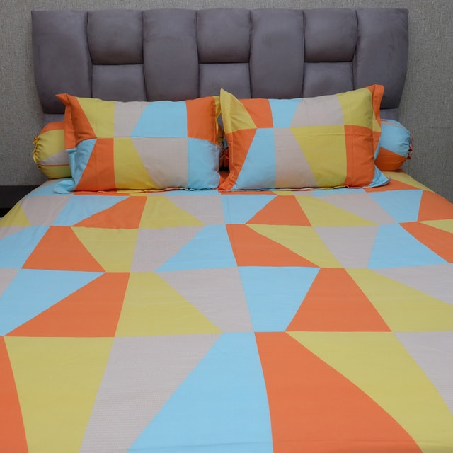 Sleep Buddy Set Sprei Orange Zenith CVC 200x200x30