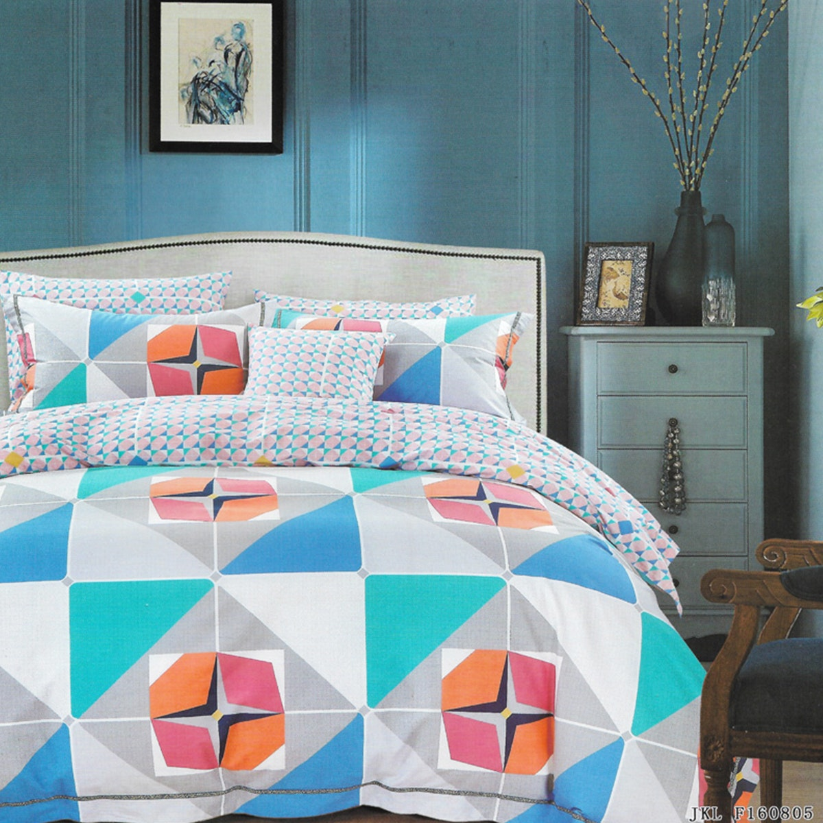 Sleep Buddy Set Sprei dan bed cover Chiclic Cotton Sateen 160x200x30