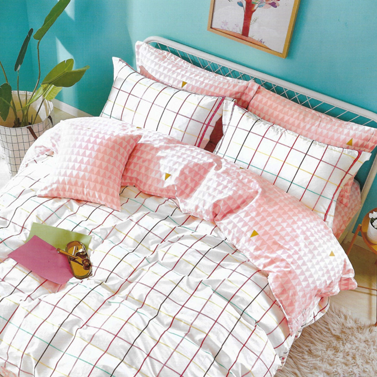 Sleep Buddy Set Sprei dan bed cover Minimalis Teen Cotton Sateen 120x200x30