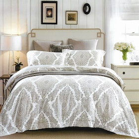 Sleep Buddy Set Sprei dan Bed Cover Victorian Elegance Tencel 180x200x30