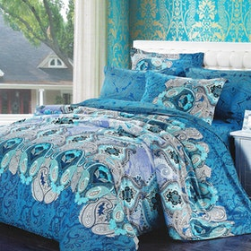 Sleep Buddy Set Sprei Classic Blue Cotton Sateen 120x200x30