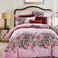 Sleep Buddy Set Sprei dan bed cover Royal Flower Cotton Sateen 160x200x30