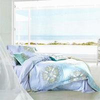 Sleep Buddy Set Sprei dan bed cover Blue Silk Organic Cotton 180x200x30