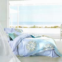 Sleep Buddy Set Sprei dan bed cover Blue Silk Tencel 180x200x30