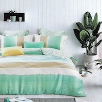 Sleep Buddy Set Sprei dan bed cover Minimalis Green Organic Cotton 120x200x30