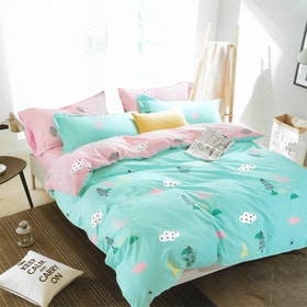 Sleep Buddy Set Sprei dan bed cover Festive Kids Cotton Sateen 160x200x30