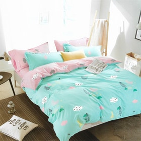 Sleep Buddy Set Sprei dan bed cover Festive Kids Cotton Sateen 200x200x30