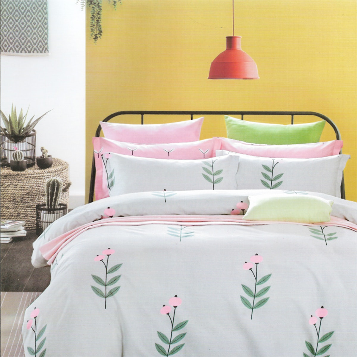 Sleep Buddy Set Sprei dan bed cover Sweet Pie Pigmen Katun 160x200x30
