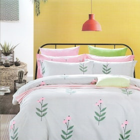 Sleep Buddy Set Sprei dan bed cover Sweet Pie Pigmen Katun 180x200x30