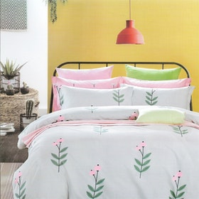 Sleep Buddy Set Sprei dan bed cover Sweet Pie Pigmen Katun 200x200x30