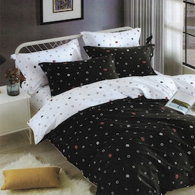 Sleep Buddy Set Sprei Mono Alphabet Pigmen Katun 200x200x30
