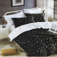 Sleep Buddy Set Sprei dan bed cover Mono Alphabet Pigmen Katun 180x200x30