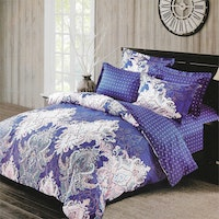 Sleep Buddy Set Sprei Classic Blue Cotton Sateen 180x200x30