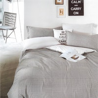Sleep Buddy Set Sprei dan bed cover Hound Square Cotton Sateen 120x200x30