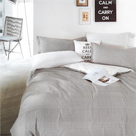 Sleep Buddy Set Sprei dan bed cover Hound Square Cotton Sateen 160x200x30