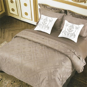 Sleep Buddy Set Sprei Simple Dark Grey Jacquard Cotton 200x200x40