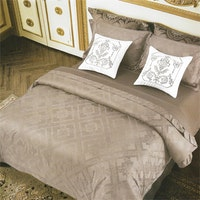 Sleep Buddy Set Sprei dan Bed Cover Simple Dark Grey Jacquard Cotton 120x200x40