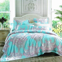 Sleep Buddy Set Sprei dan Bed Cover Damask Organic Cotton 160x200x30