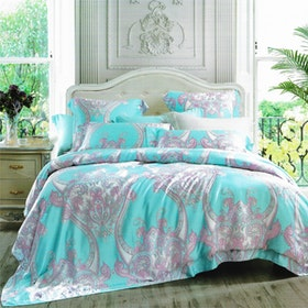 Sleep Buddy Set Sprei dan Bed Cover Damask Tencel 180x200x30