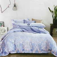Sleep Buddy Set Sprei dan Bed Cover Soft Carve Organic Cotton 180x200x30