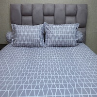 Sleep Buddy Set Sprei Prismatic Grey CVC 160x200x30