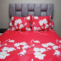 Sleep Buddy Set Sprei Aliya Red CVC 160x200x30