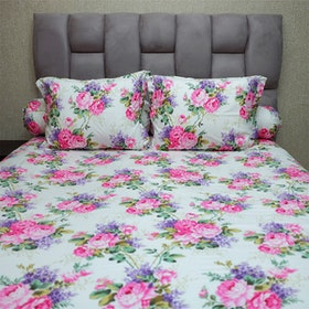 Sleep Buddy Set Sprei Sweetberry Rose Pink CVC 160x200x30