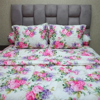 Sleep Buddy Set Sprei dan Bed Cover Sweetberry Rose Pink CVC 160x200x30
