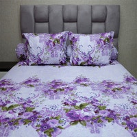 Sleep Buddy Set Sprei Florence Purple CVC 160x200x30