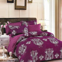 Sleep Buddy Set Sprei Dark Purple Carve Cotton Sateen 200x200x30