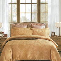 Sleep Buddy Set Sprei dan Bed Cover Victorian Shine Brown Sutra Tencel 200x200x40