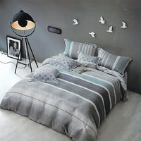 Sleep Buddy Set Sprei Lining Grey Tencel 160x200x30