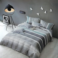 Sleep Buddy Set Sprei dan Bed Cover Lining Grey Tencel 180x200x30