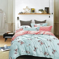 Sleep Buddy Set Sprei Cutie Blue Bear Tencel 160x200x30