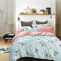 Sleep Buddy Set Sprei dan Bed Cover Cutie Blue Bear Tencel 160x200x30