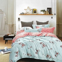 Sleep Buddy Set Sprei dan Bed Cover Cutie Blue Bear Tencel 180x200x30